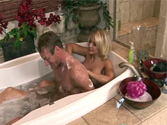 SoapyMassage Busty MILF Madison Ivy Soapy Foot Job
