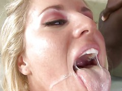 Hot Anal Sex With Blonde MILF Rough Interracial Sex