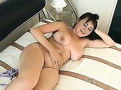 Chubby Cutie Gets Naked And Masturbates